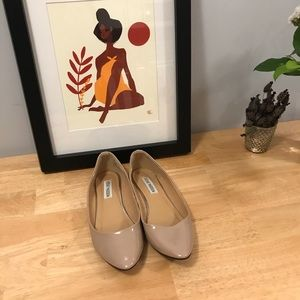 Nude Patent Leather Steve Madden Flats
